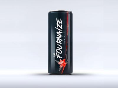 La Fournaize Vanilla island drink energy drink illustration vanilla lava volcano mockup packaging brand