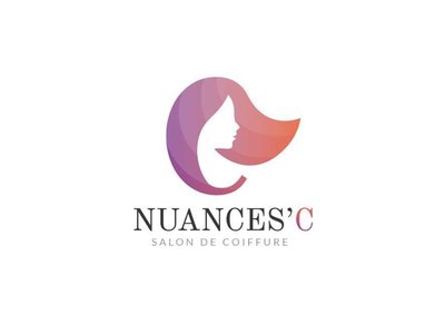 Logo Nuances'C - Hair Salon brand gradient hairdresser hair salon identity logo