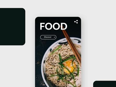 [Daily Ui] Food - Recipe home unsplash food recipe presentation guide design app mobile ui ux