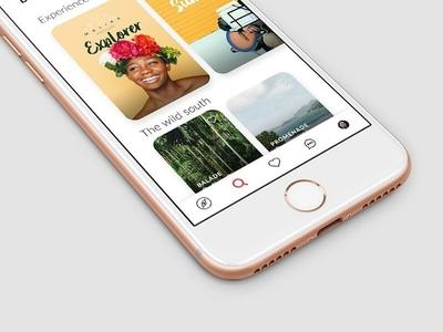Brbn. Travel Guide - Mobile app trip presentation navigation search guide design brbn travel app mobile ui ux