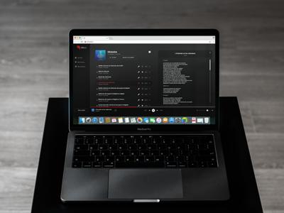 Onzic - Web app in rap music dark app design ui brand music music app onzic webapp webdesign ui ux