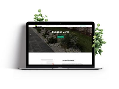 Espace Tité - Web Site landscape landscape landing page refont design web architect garden brand ui ux website