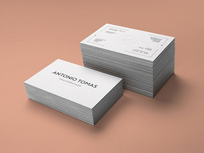 Antonio Tomas Photographer logo logo design web design cards business cards corporate identity identity branding