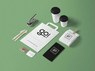 Go Catering graphic design web ux web design stationery branding corporate identity identity naming