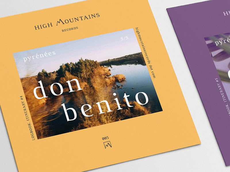 High Mountains Records (Logbook) photography creative direction art direction music design cover design artwork graphic design