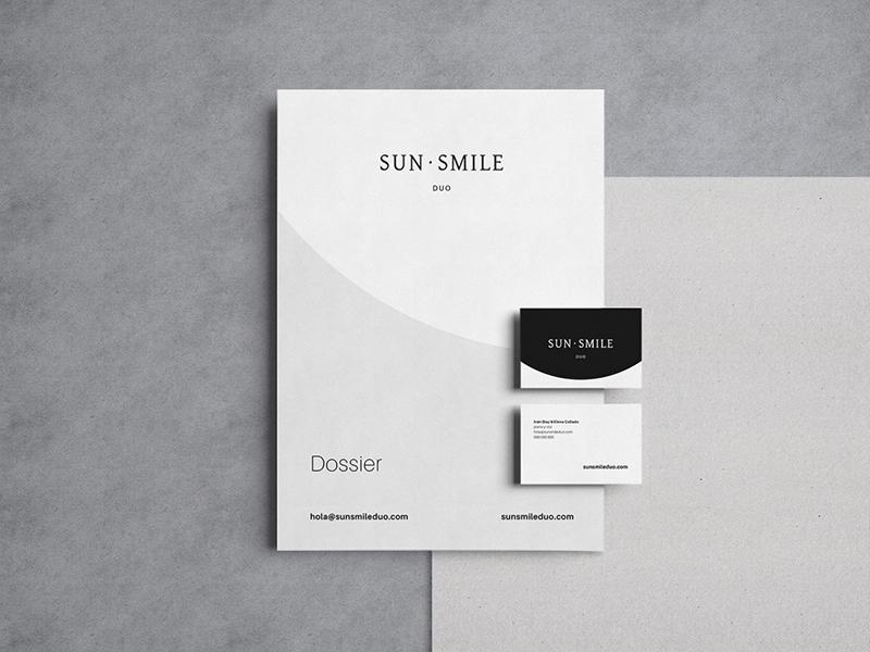 SunSmile Duo brochure corporate identity identity graphic design stationery branding