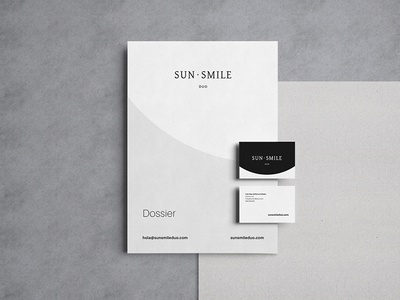 SunSmile Duo brochure corporate identity identity graphic design stationery branding