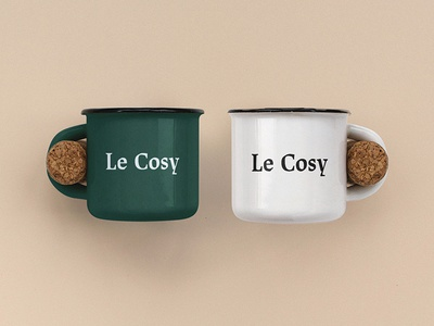 Le Cosy Bar art direction restaurant branding branding restaurant identity corporate identity identity graphic design graphic mug design mug