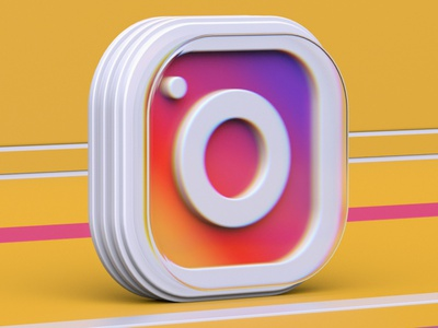 Instagram 3d icon uiux web abstract colors redshift render illustration 3d logo icon cinema4d