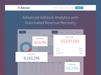 Admiral Landing Page