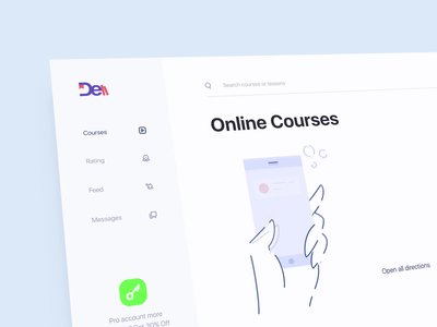 Online Courses design art concept illustration figma fresh beauty colors skillset learning course ui ux interface animation design