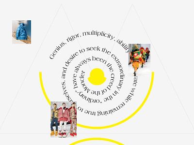 Moncler Store Concept animation graphic design ui ux figma concept web interface design