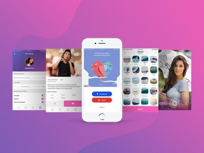 Cupid App Design ui mobile app layout design ux design ui design user interface design