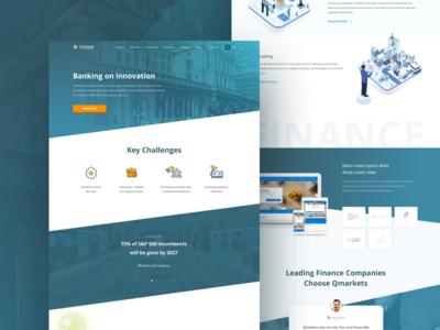 Fintech Web Design illustration ux design ui design ui web design user interface design