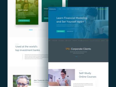 Financial course Web Redesign mobile app ux design ui design design landing page web app web design user interface design