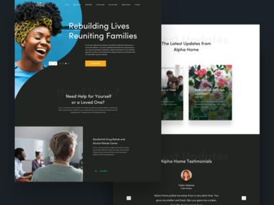Rebuilding Lives Web Redesign layout design landing page mobile app ux design design web design ui design user interface design