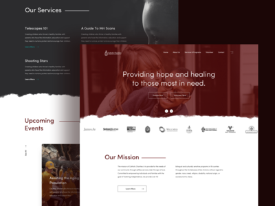 Charities Web Design web design icon design illustration landing page ux design mobile app web app layout design ui design user interface design