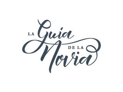 La Guía de la Novia logo design graphicdesign wedding calligraphy branding brand logo logotype
