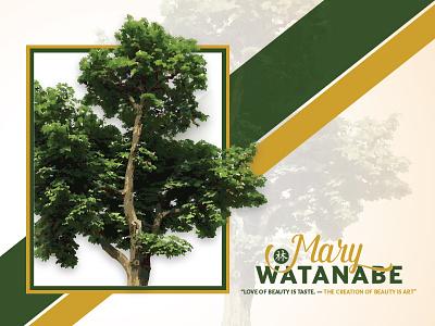 Watanabe Branding forest green gold branding logo watanabe