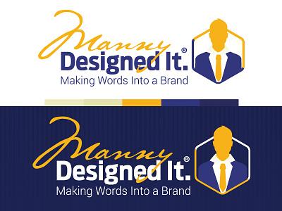 Manny Designed It manny designed it branding logo mdi