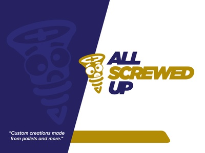 All Screwed Up blue screwed branding logo