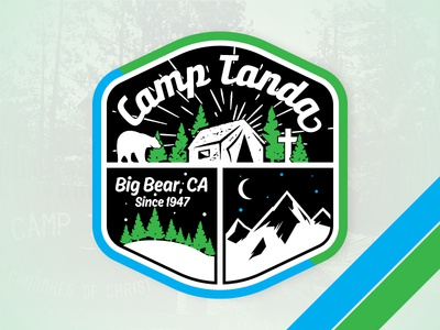 Tanda Logo Final church of christ big bear camp tanda camping campground logo bear big