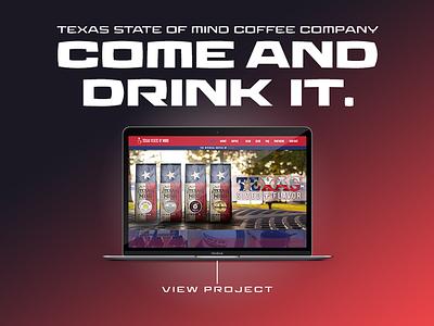 Texas State of Mind Coffee Company wordpress adobe portfolio web graphic