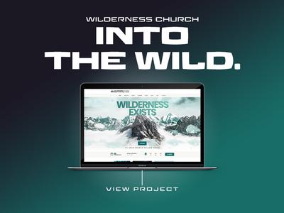 Wilderness Church adobe wordpress web graphic portfolio