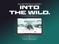 Wilderness Church adobe wordpress web graphic portfolio