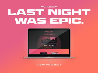 Avazesa portfolio adobe wordpress music web graphic