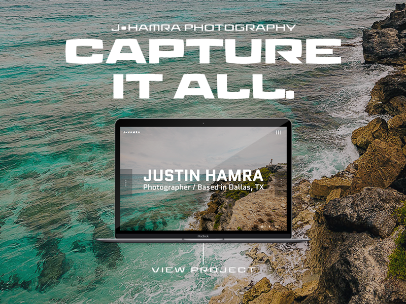 J•Hamra Photography portfolio adobe wordpress photography web graphic