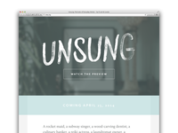 Unsung—Portraits of Everyday Artists