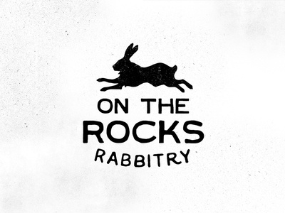 On the Rocks Rabbitry Logo