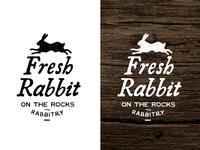 On the Rocks Rabbitry Market Sign