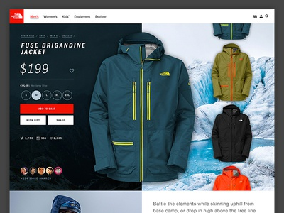 Northface Pitch - Product Page