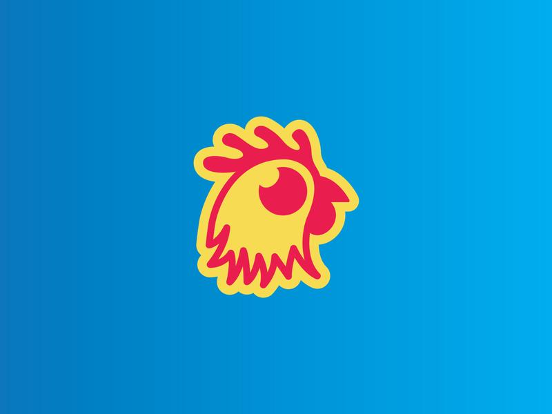 ChickenLogo for Streamer friendly fun design logo icon modern animal streamer chicken logo