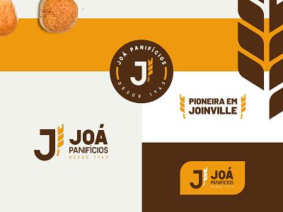Joá Panifícios baker flour logo monogram family wheat bakery