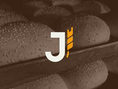 Joá Panifícios - Icon baker flour logo monogram family wheat bakery