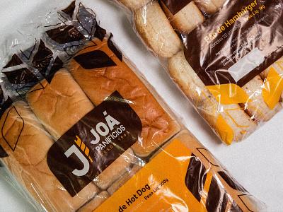Joá Panifícios - Bread Packaging packaging baker flour logo monogram family wheat bakery