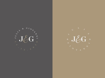 J&G - Wedding Monogram Color Variations