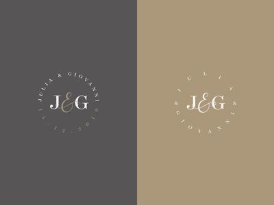 J&G - Wedding Monogram Color Variations