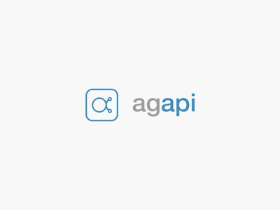 Agapi social media app screens technology blue brand logo