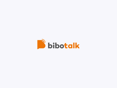 Bibotalk - Logo mobile tshirt orange baloon feed talk podcast logo clean logo logo design