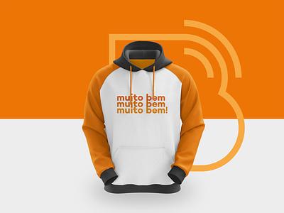 Bibotalk - Hoodie mobile tshirt orange balloon b feed talk podcast logo clean logo