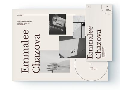 Photographers Portfolio Website portfolio site web design websites typography figma adobe business brand ui ux minimal digital design website