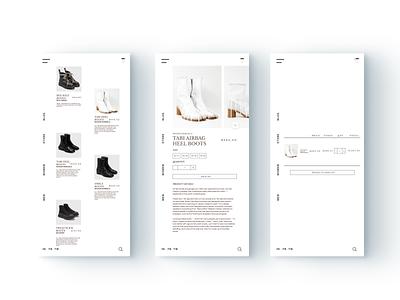 Mobile Store Concept flat website modern store shopify ecommerce app ecommerce design ecommerce mobile brand ui minimal digital ux