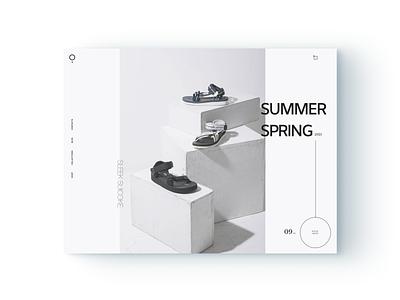 Desktop Ecommerce Summer Sandals Concept brand design slider blue figma flatdesign shopify ecommerce design ecommerce typography adobe ui website business brand minimal digital ux design