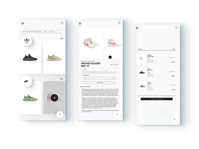 Ecommerce Concept Theme mobile design mobile web design web minimalism shoes app uidesign minimalist shoe vector adobe business brand website ui minimal digital ux design