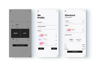 Ecommerce Theme adobe sketch figma materialdesign minimalism website design glassmorphism skeuomorph uidesign app ecommerce flat business brand website ui minimal digital ux design