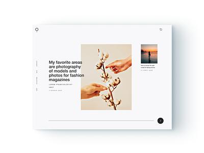 Portfolio Page minimalistic dribbble sketch figma adobe webdesign blue website design portfolio blog web design web website flat brand ui minimal digital ux design